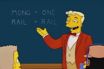 Classic Simpsons - Mono = One and Rail = Rail