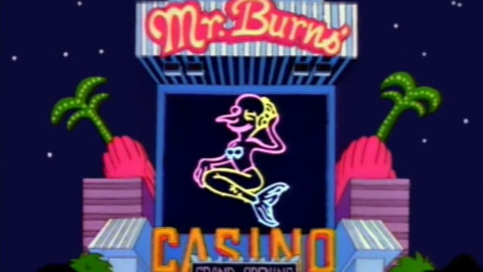 Classic Simpsons - Mr Burns' Casino