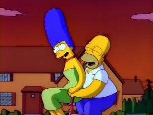 Classic Simpsons - Homer and Marge