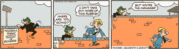 Andy Capp, now written by Sean Garnett