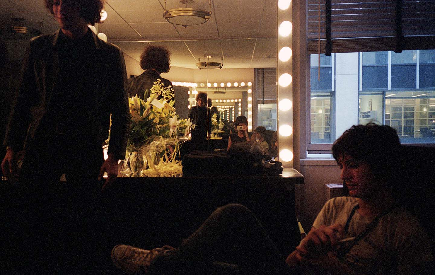 The Strokes backstage at Radio City: NYC, 2002