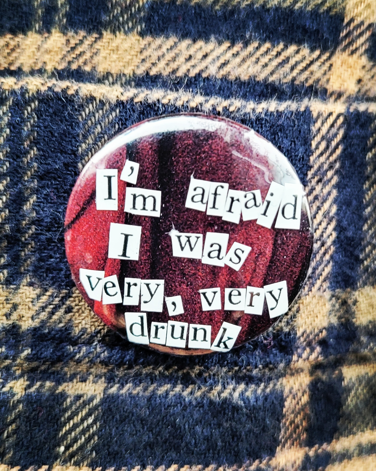 """Billy Fisher's Wardrobe button badge inspired by TV comedy sketch show """"The Fast Show"""""""